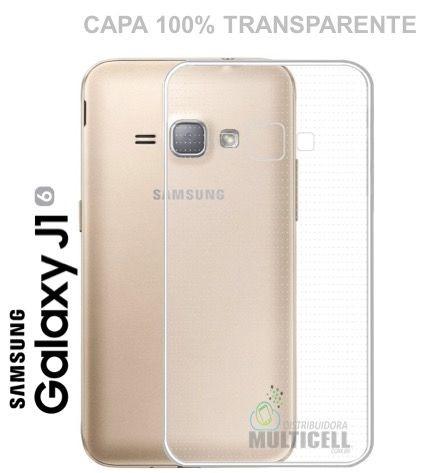 CAPA DE SILICONE 100% TRANSPARENTE SAMSUNG J120 GALAXY J1 (2016)