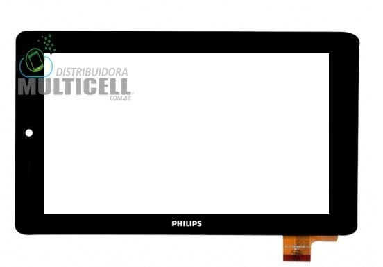 TELA TOUCH SCREEN PHILIPS PI2010 B1X/78 7' PRETO ORIGINAL