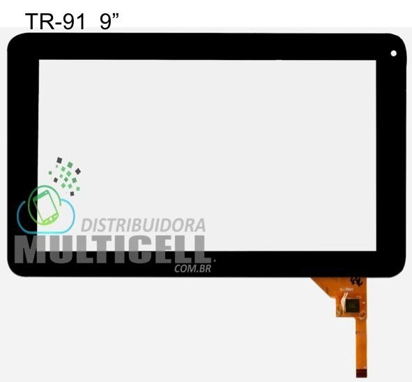 TELA TOUCH SCREEN CCE TR91 T935 M988 9' PRETO ORIGINAL