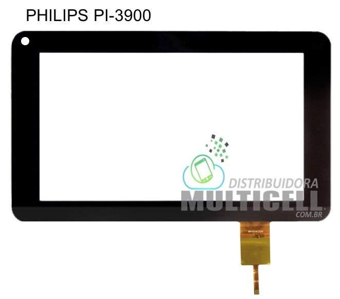 TELA TOUCH SCREEN PHILIPS PI3900 PI 3900 B2X 7' PRETO ORIGINAL