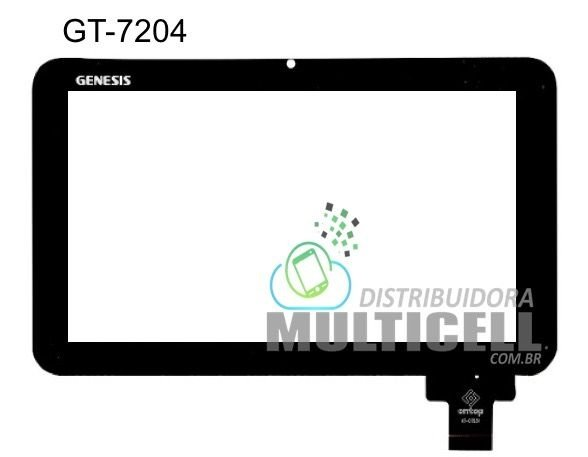 TELA TOUCH SCREEN GENESIS GT7204 GT7240  7'' PRETO ORIGINAL