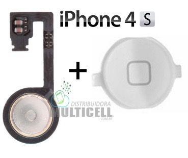 FLEX BOTAO HOME APPLE IPHONE 4S BRANCO ORIGINAL