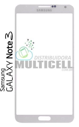 TELA DE VIDRO FRONTAL SAMSUNG N900 N9000 N9005 N9006 GALAXY NOTE 3 BRANCA GORILA GLASS ORIGINAL