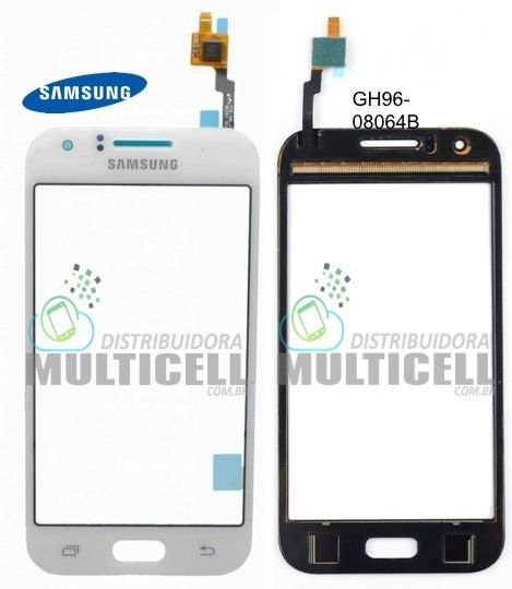 TELA TOUCH SCREEN SAMSUNG J100 GALAXY J1 BRANCO ORIGINAL - GH96-08064B