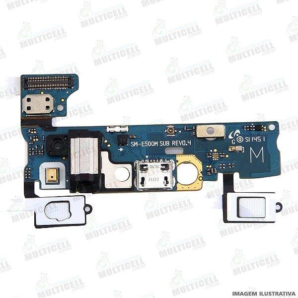 FLEX DOCK CONECTOR DE CARGA SENSOR TEC E MICROFONE SAMSUNG E500M GALAXY E5 1ªLINHA QUALIDADE AAA