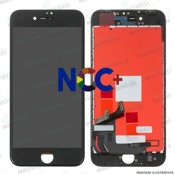 GABINETE FRONTAL DISPLAY LCD MODULO COMPLETO APPLE A1905 IPHONE 8 PRETO 1ªLINHA (QUALIDADE NCC+)