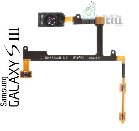 FLEX ALTO FALANTE AURICULAR E VOLUME SAMSUNG I9300 I9300i I9301 I9305 I9308 GALAXY S3 ORIGINAL