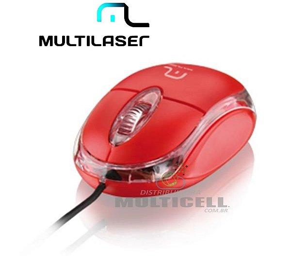 MOUSE ÓPTICO USB MULTILASER CLASSIC  VERMELHO - MO003