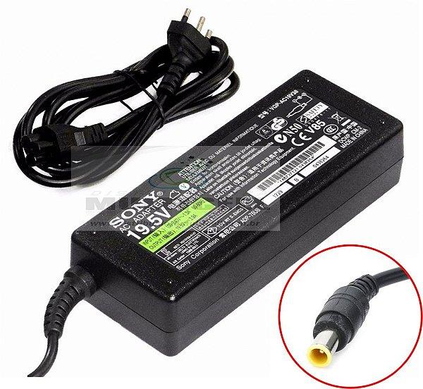 FONTE CARREGADOR PARA NOTBOOK SONY 90W 100-240 V 19V 3.42A DC CONECTOR 7,4*2,5mm