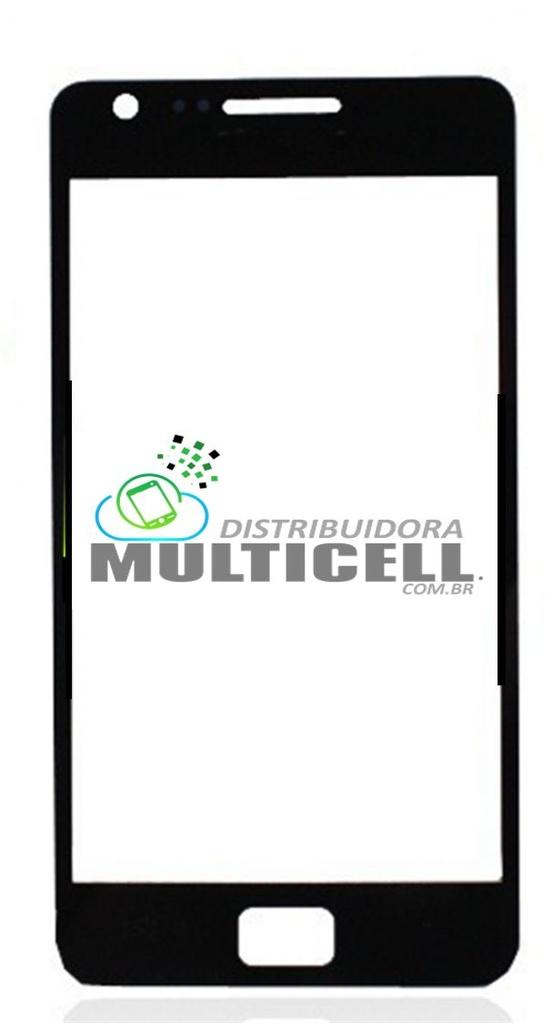 TELA VIDRO FRONTAL SAMSUNG I9070 S2 LITE PRETO ORIGINAL