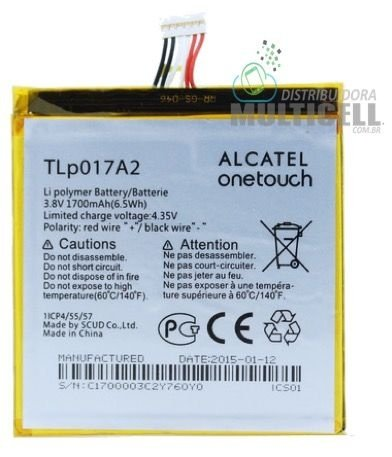 BATERIA ALCATEL TLP017A2 OT6012 6012 6012D 6012A ONE TOUCH IDOL MINI ORIGINAL