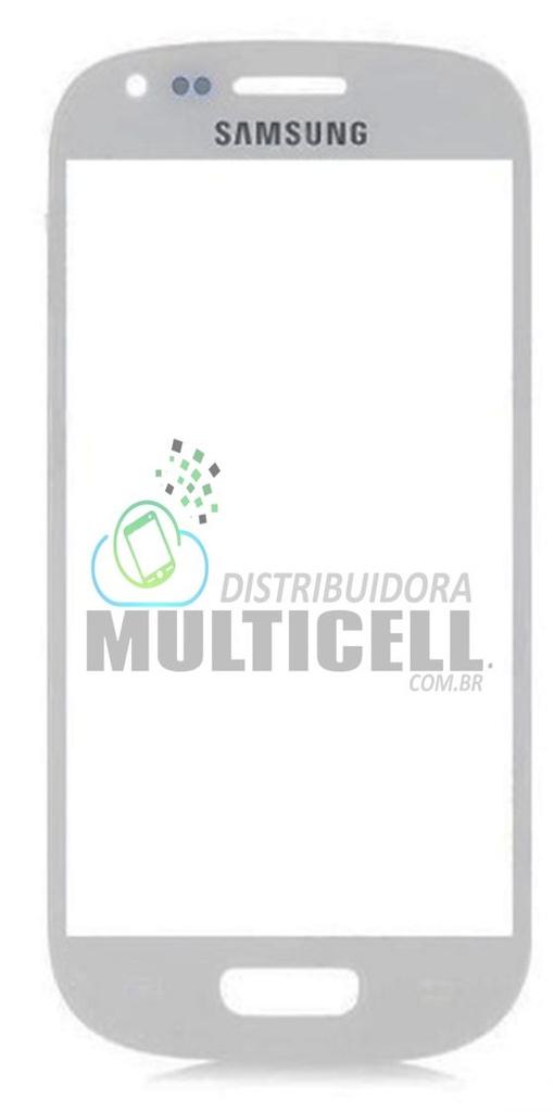 VIDRO FRONTAL SAMSUNG I8190 S3 MINI BRANCO ORIGINAL