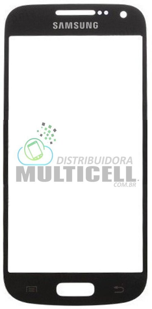 VIDRO FRONTAL SAMSUNG I9190/I9192 GALAXY S4 MINI AZUL ORIGINAL