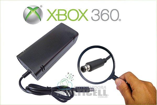 FONTE XBOX 360 SUPER SLIM BIVOLT 110v 220v 135w AC CABO DE FORÇA