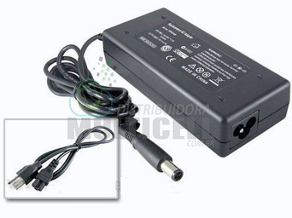 FONTE CARREGADOR NOTBOOK HP PAVILION DV4/DV5/DV6/DV7 90W 100-240 V 19V