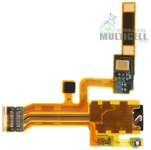 FLEX MICROFONE E CONECTOR DE FONE DE OUVIDO SONY C6502 C6503 C6506 XPERIA ZL ORIGINAL