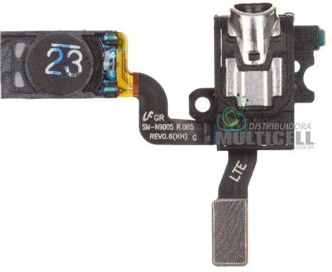 FLEX ALTO FALANTE AURICULAR E CONECTOR FONE DE OUVIDO SAMSUNG N900 N9000 N9003 N9005 N9006 N9009 GALAXY NOTE 3 ORIGINAL