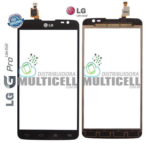 TELA TOUCH SCREEN LG D685 D686 OPITMUS G PRO LITE DUAL PRETO ORIGINAL (EBD61665602)