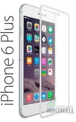 PELICULA DE VIDRO COM BORDA APPLE IPHONE 6 PLUS IPHONE 6S PLUS 7 PLUS 5.5' PRATA 0.3 mm