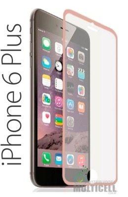 PELICULA DE VIDRO COM BORDA APPLE  IPHONE 6 PLUS IPHONE 6S PLUS 5.5' ROSA ROSE 0.3 mm