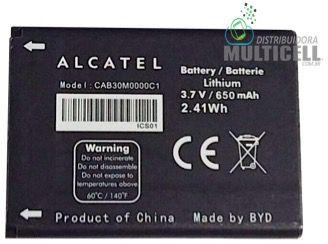 BATERIA ALCATEL OT360 OT320 OT363 OT203 CAB30M0000C1 MOTOROLA OM4A ORIGINAL