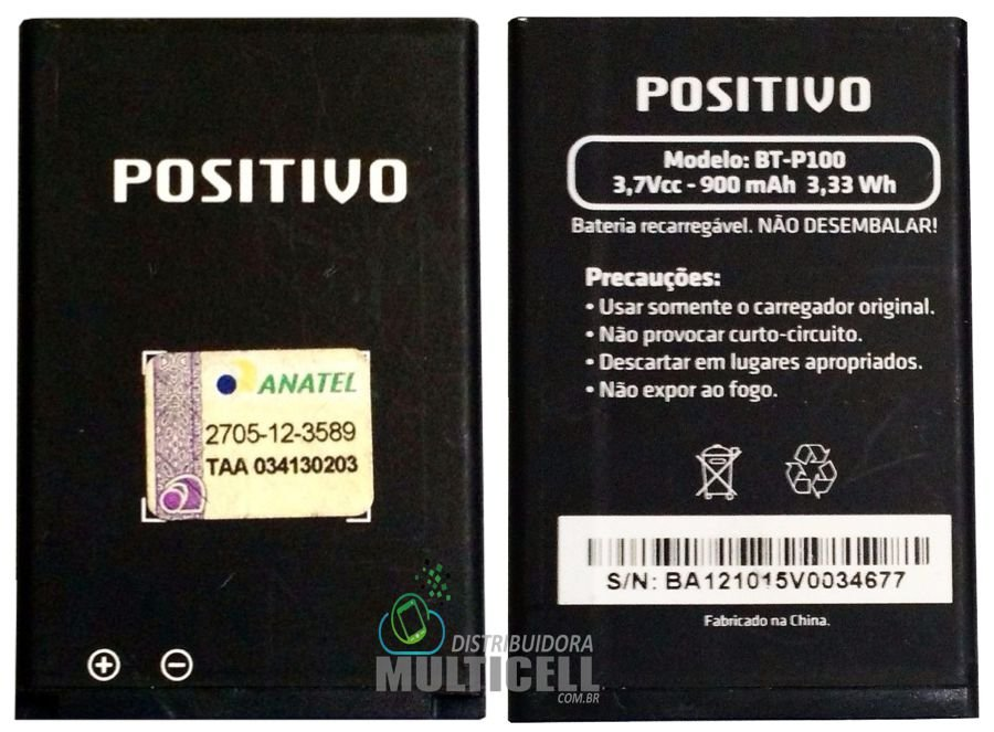 BATERIA POSITIVO BT-P100 900mAh 3,7v ORIGINAL