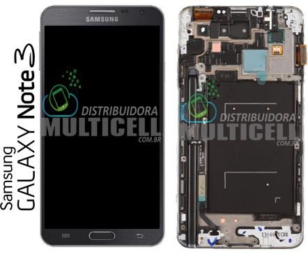 GABINETE FRONTAL SAMSUNG N900 N9000 N9003 N9005 N9006 N9009 GALAXY NOTE 3 AZUL ORIGINAL