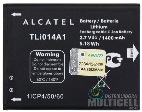 BATERIA ALCATEL TLi014A1 1400mAh 3.7v OT-4010 OT-4030 OT-5020 OT-4012 ORIGINAL