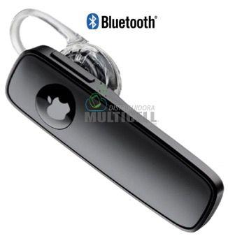 FONE DE OUVIDO BLUETOOTH UNIVERSAL MODELO IPHONE 4 4S 5 5C 5S 6 6S M165 IOS PRETO 1ªLINHA