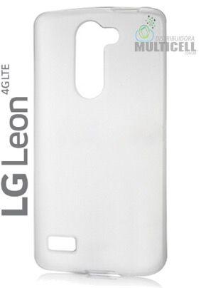 CAPA DE SILICONE TPU 100% TRANSPARENTE LG H320 H326 LG LEON