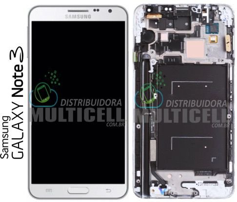 GABINETE FRONTAL SAMSUNG N900 N9000 N9003 N9005 N9006 N9009 GALAXY NOTE 3 BRANCO ORIGINAL
