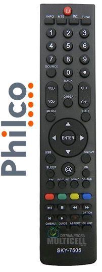 CONTROLE REMOTO TV LCD PHILCO 3D PH32U2 PH50A PH51A36PSG SKY-7505 1ªLINHA