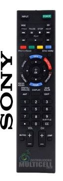 CONTROLE REMOTO TV LCD LED SONY BRAVIA RM-YD095 / KDL-50R555A / KDL-50R557A / KDL-60R555A / KDL-60R557A / KDL-70R555A SKY-7009 1ªLINHA