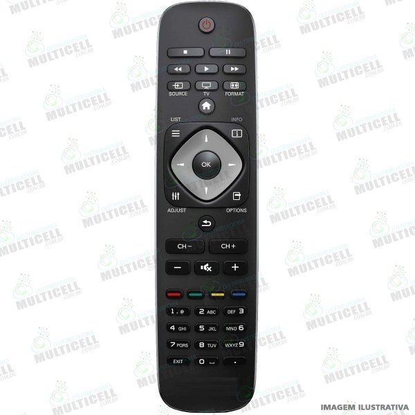 CONTROLE REMOTO TV LCD LED PHILIPS RC2954101 SKY-7490 FBG-7490 1ªLINHA