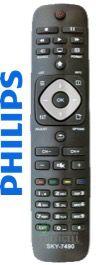 CONTROLE REMOTO TV LCD LED PHILIPS RC2954101 SKY-7490 1ªLINHA