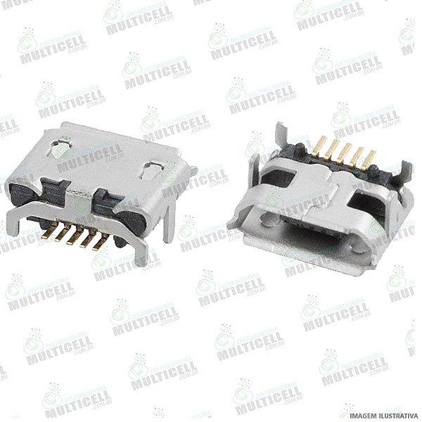 CONECTOR USB DOCK DE CARGA PARA TABLET E CELULARES MODELO UNIVERSAL GV1O6 (5 TRILHAS / 4 BASE )