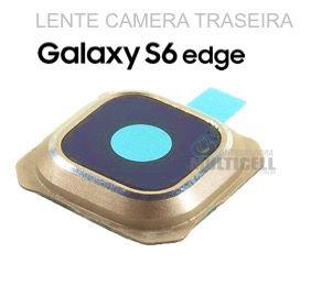 LENTE VIDRO CAMERA TRASEIRA SAMSUNG G925 GALAXY S6 EDGE DOURADO GOLD ORIGINAL