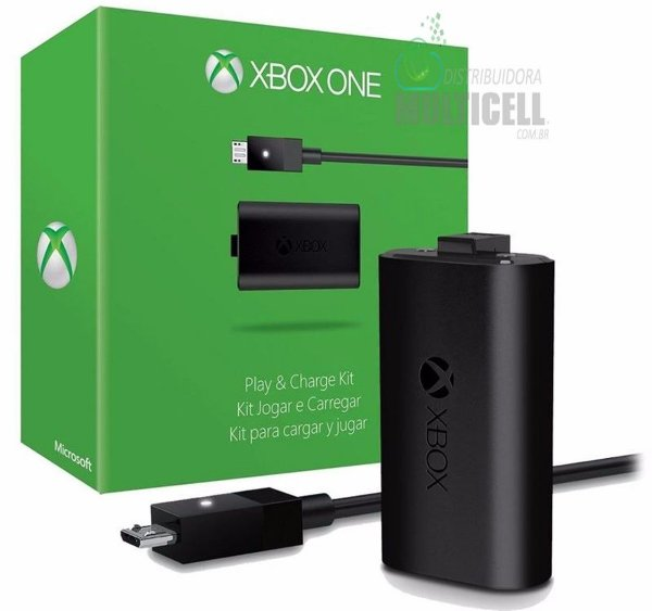 KIT PLAY AND CHARGE BATERIA PARA CONTROLE XBOX ONE ORIGINAL