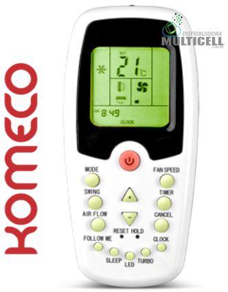 CONTROLE DE AR CONDICIONADO KOMECO MIDEA COMFEE R06 BGCE SKY-7050