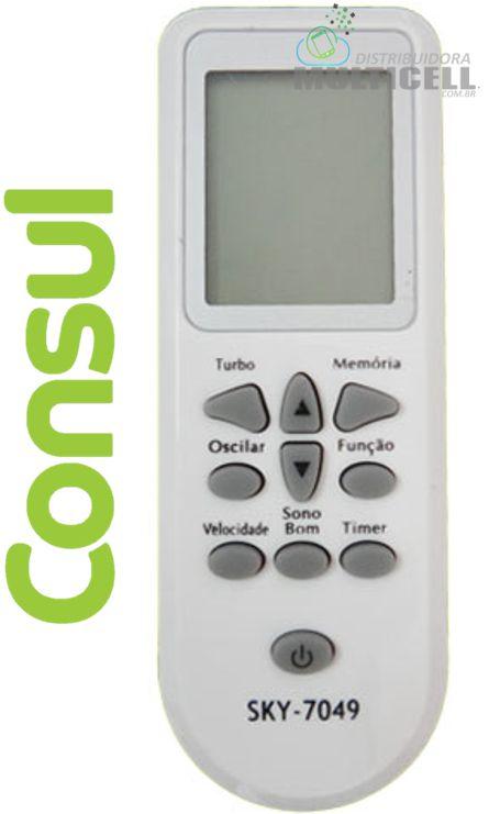 CONTROLE DE AR CONDICIONADO CONSUL CR-3073 SKY-7049 FBG-7049 (7 A 12 MIL BTUS)