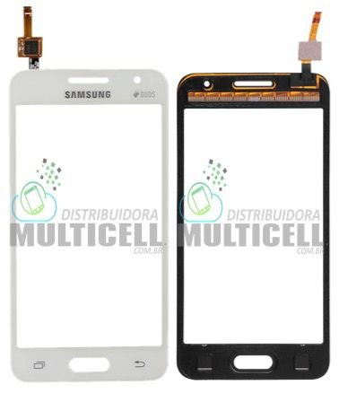 TELA TOUCH SCREEN SAMSUNG G355 GALAXY CORE 2 DUOS BRANCO 1ªLINHA