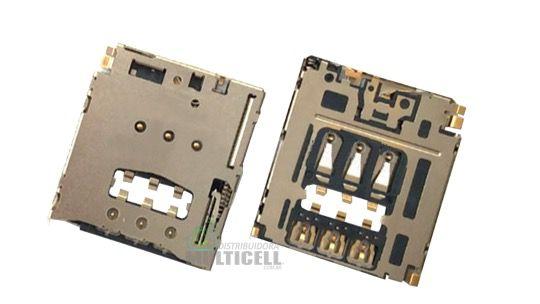 CONECTOR MATRIZ SLOT DE CHIP SIM CARD MOTOROLA XT1068 XT1069 XT1070 MOTO G 2ª GERAÇÃO ORIGINAL