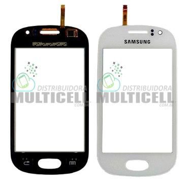 TELA TOUCH SCREEN SAMSUNG S6810 S6812 GALAXY FAME BRANCO 1ªLINHA