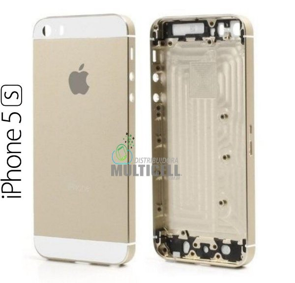 CARCAÇA CHASSI APPLE IPHONE 5S A1533 A1453 A1457 A1530 DOURADA GOLD 1ªLINHA AAA