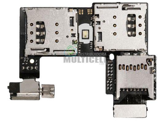 FLEX CONECTOR SLOT DE CHIP MATRIZ SIM CARD COM VIBRA MOTOROLA XT1068 XT1069 XT1078 MOTO G2 ORIGINAL