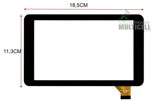 "TELA TOUCH SCREEN HOW MAX QUAD A0011C A0011-C 7"" PRETO"