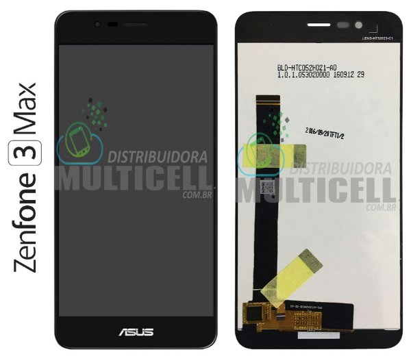 GABINETE FRONTAL TELA LCD MODULO COMPLETO ASUS ZC520TL ZENFONE 3 MAX PRETO 1ªLINHA AAA