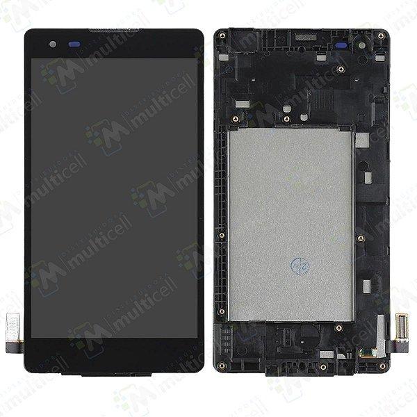 GABINETE FRONTAL DISPLAY LCD TELA TOUCH SCREEN MODULO COMPLETO LG K200 LG X STYLE PRETO 1ªLINHA QUALIDADE AAA