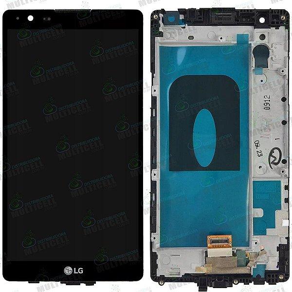 GABINETE FRONTAL DISPLAY LCD MODULO COMPLETO K220 LG X POWER PRETO 1ª LINHA QUALIDADE AAA