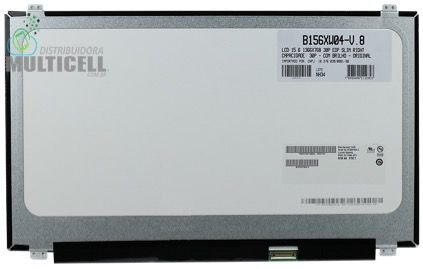 TELA LCD DISPLAY LED PARA NOTEBOOK SLIM B156XW04-V.8 30 PINOS 15.6'' 1366 x 768 ORIGINAL